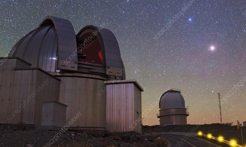 Mars and La Silla Observatory, Chile
