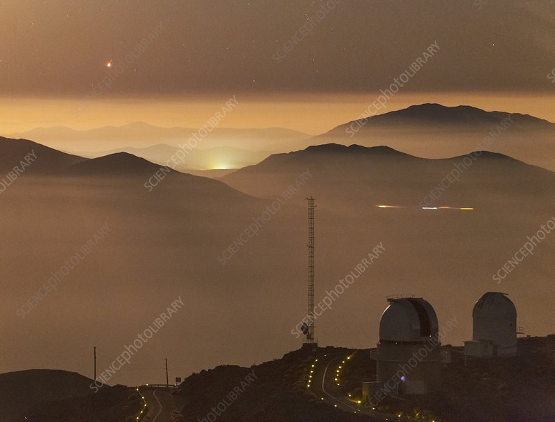 Jupiter over La Silla Observatory, Chile