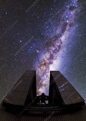 Milky Way above the NTT telescope