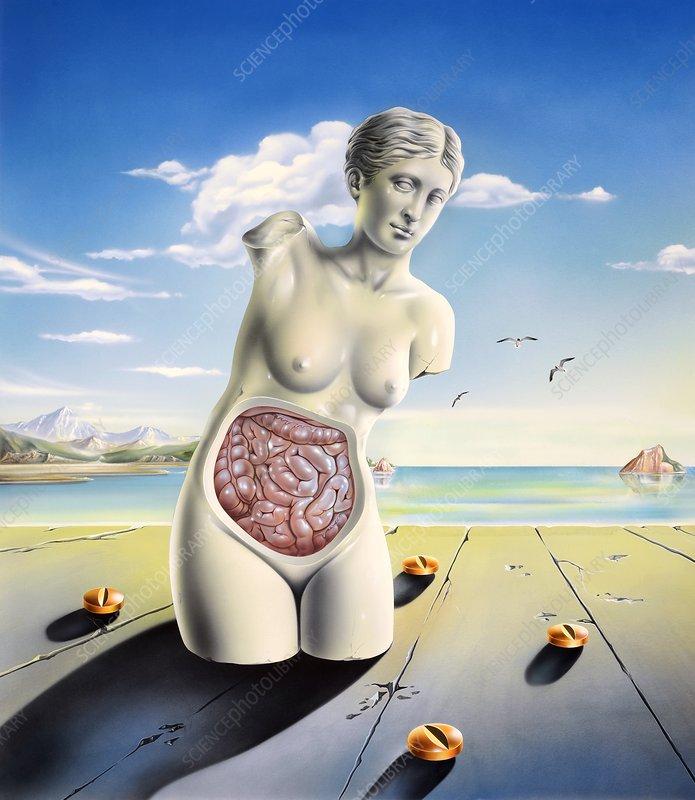 Intestinal disorders, conceptual artwork