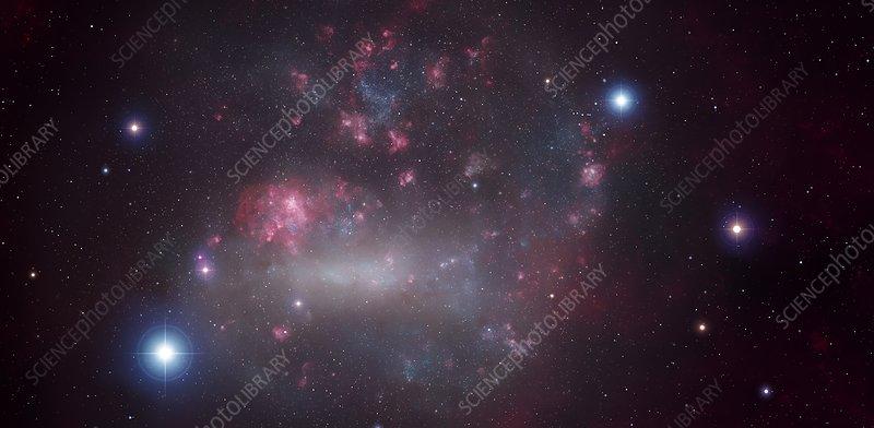 Artwork of the Large Magellanic Cloud