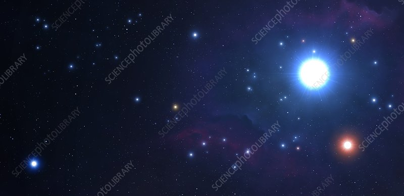 Artwork of an open cluster of stars