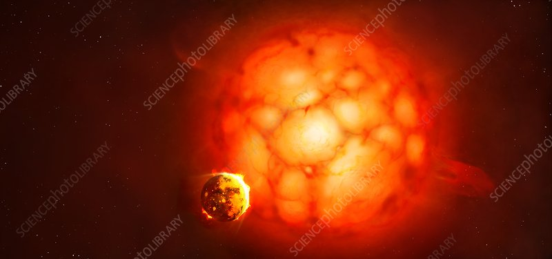 Artwork of a red supergiant