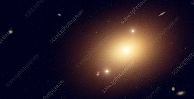 Artwork of an elliptical galaxy