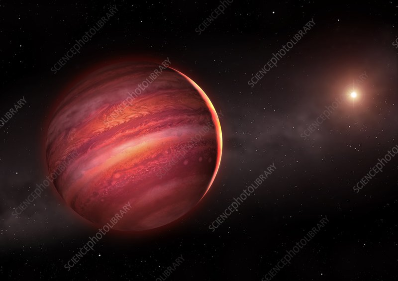 Artwork of a brown dwarf