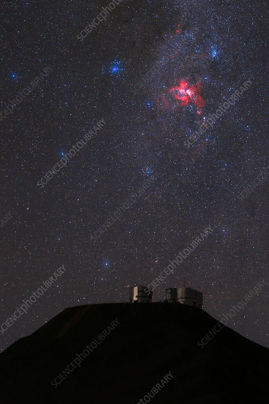 Night sky over Paranal observatory, Chile