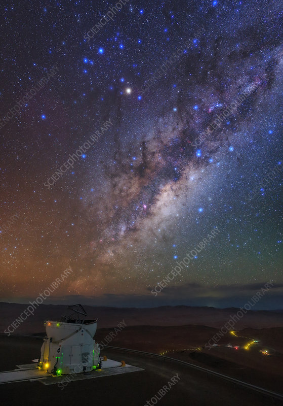 Milky Way over Paranal observatory, Chile