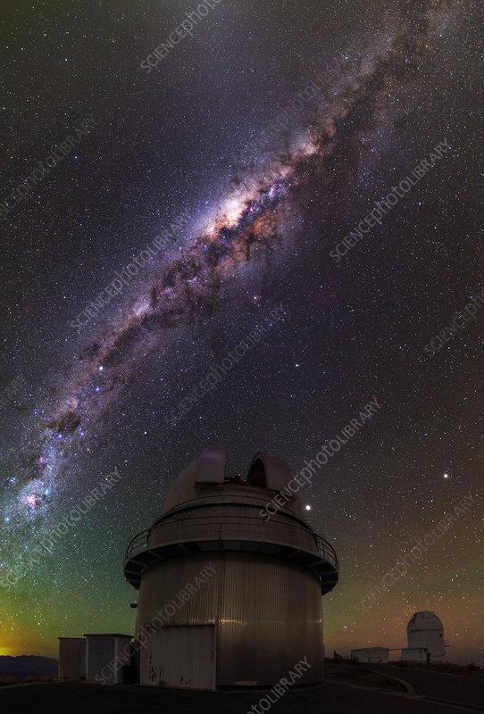 Milky Way over La Silla observatory