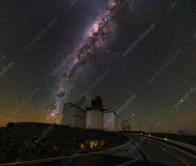 Milky Way over La Silla observatory