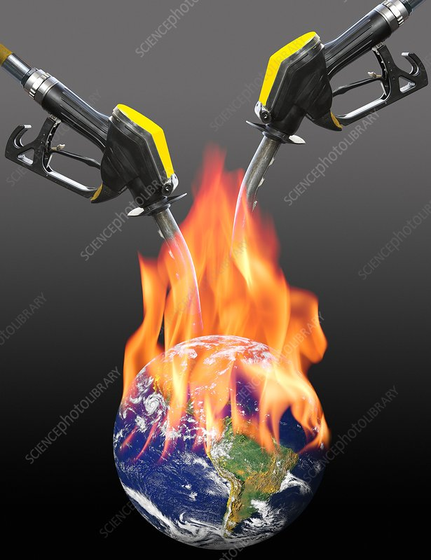 Fuelling global warming, conceptual image