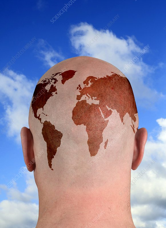 Global thinking, conceptual image