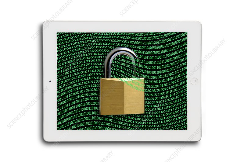 Secure tablet computer, conceptual image
