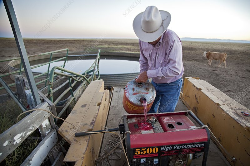Rancher filling generator with diesel