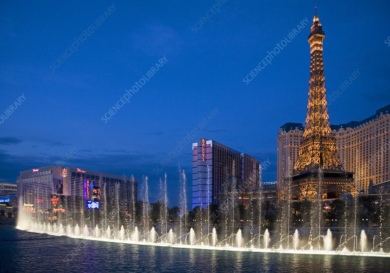 Dancing fountains, Las Vegas, USA
