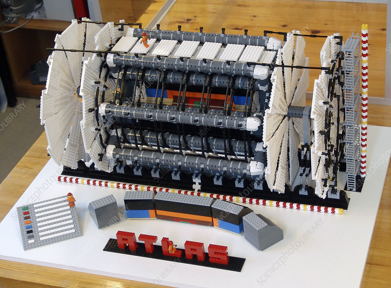 ATLAS detector at CERN, lego model