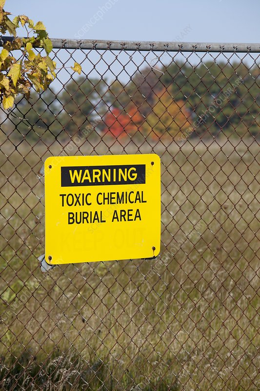 Toxic dump sign, USA