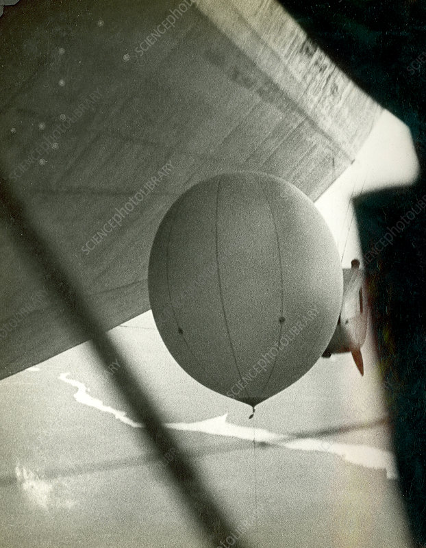 Weather balloon launch from Graf Zeppelin