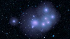 Fornax cluster galaxies, WISE image