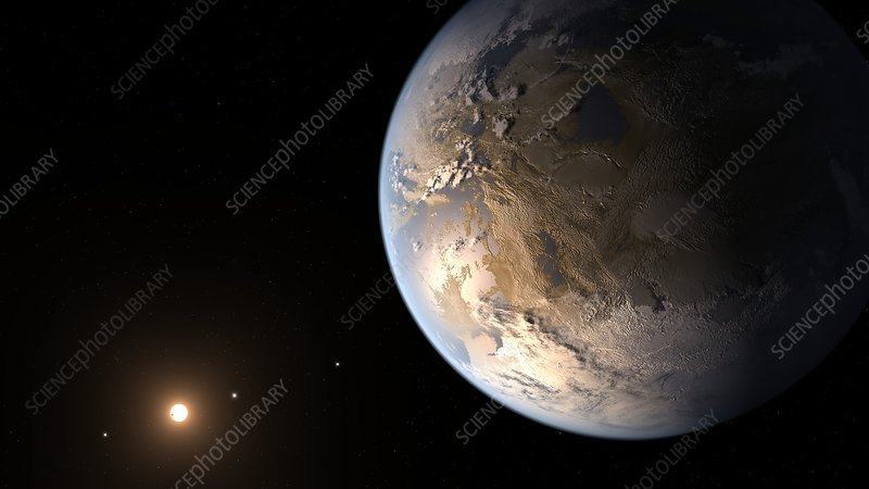 Kepler-186f exoplanet, illustration