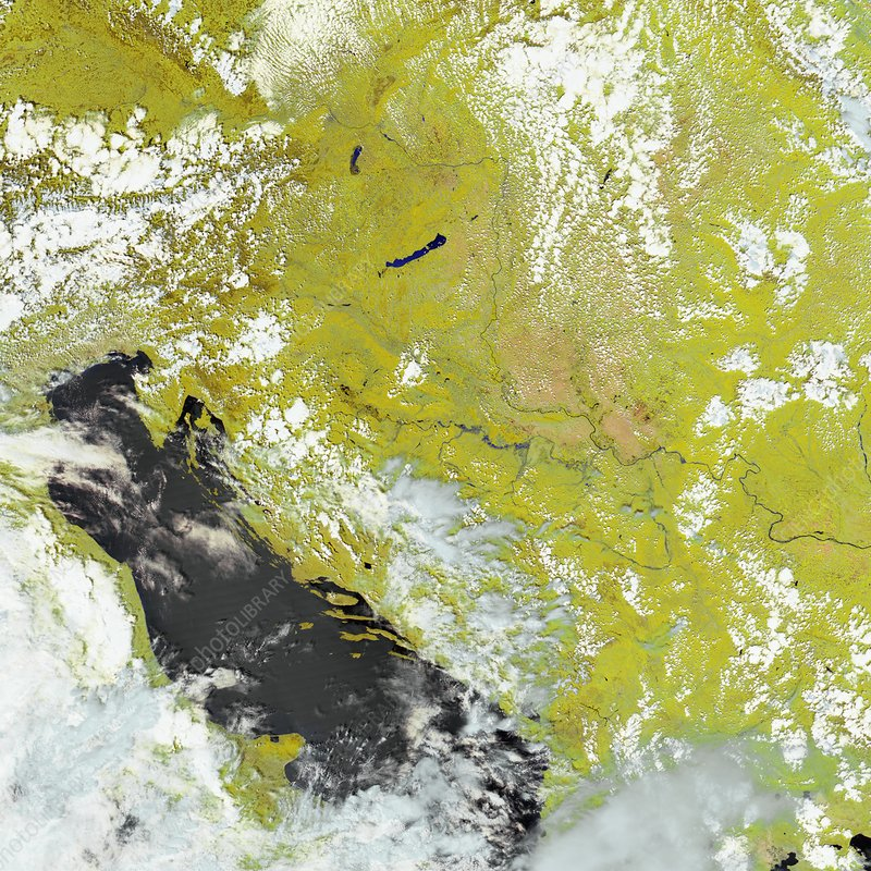 Flooding in the Balkans, satellite image