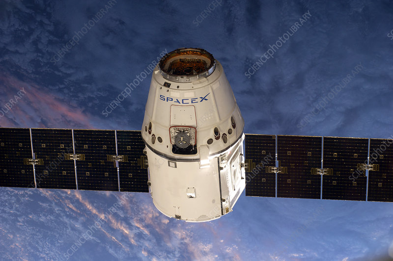 SpaceX Dragon capsule at the ISS, 2014