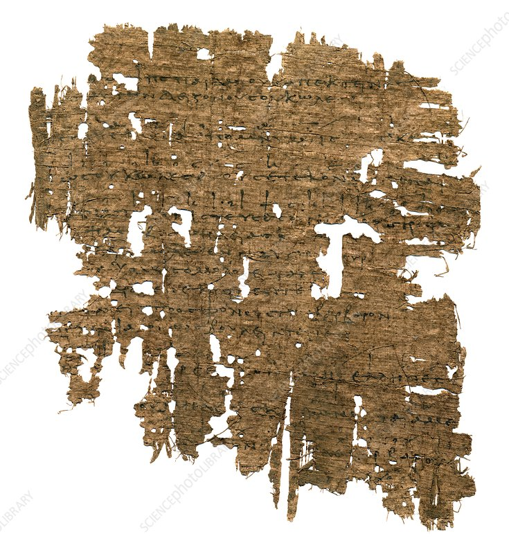 Ancient music papyrus