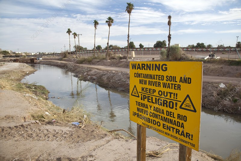 Polluted river, California, USA