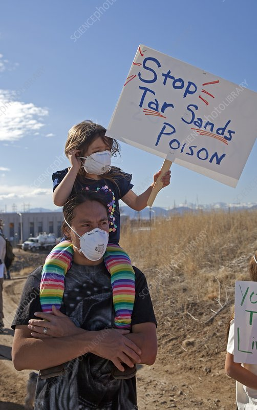 Protest against tar sands refinery