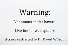 Spider venom research, warning sign