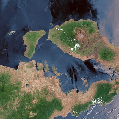 Mount Tambora, Indonesia, satellite image