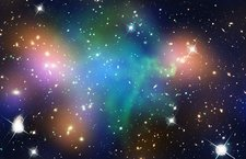 Abell 520 galaxy cluster, composite image