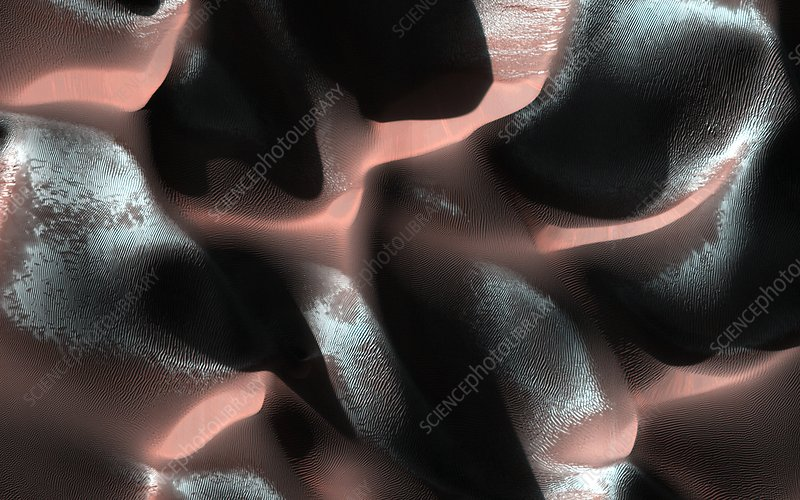 Dunes on Mars, MRO image
