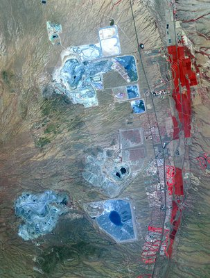 Arizona copper mine, satellite image
