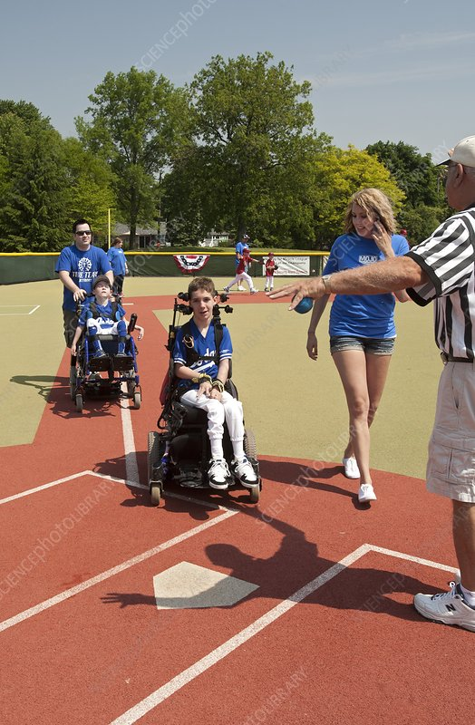 Disabled baseball game