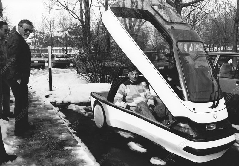 Ellert electric car at IBM, 1991