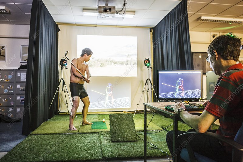 Motion analysis of a golfer