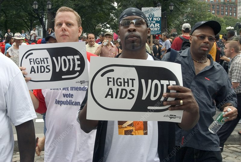Demonstration for AIDS funding, USA