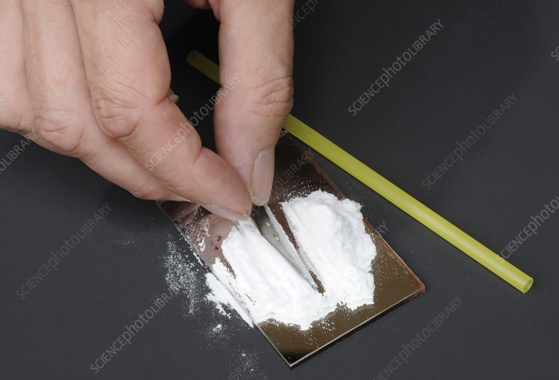 Cutting up cocaine