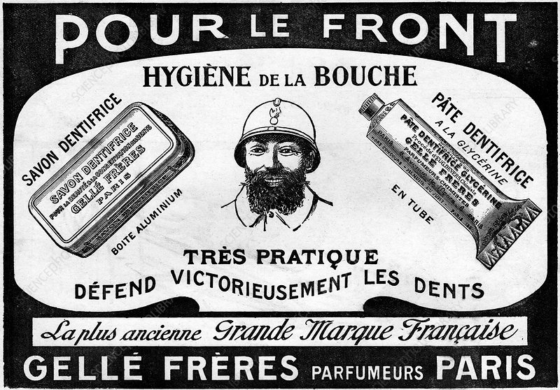1916 toothpaste advert