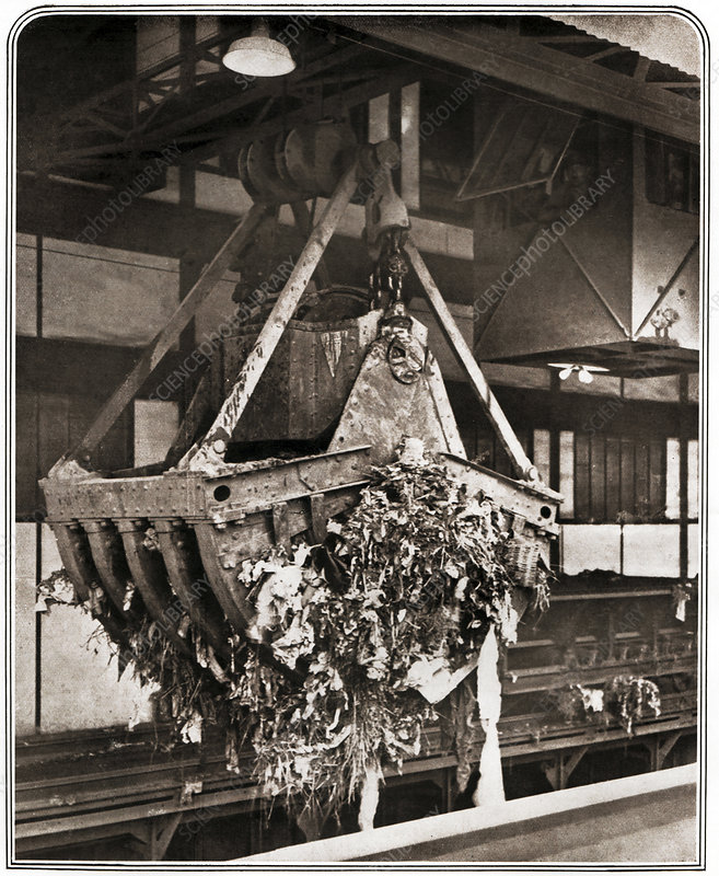 1920s waste treatment, historical image