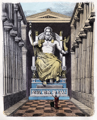 Statue of Zeus at Olympia, illustration
