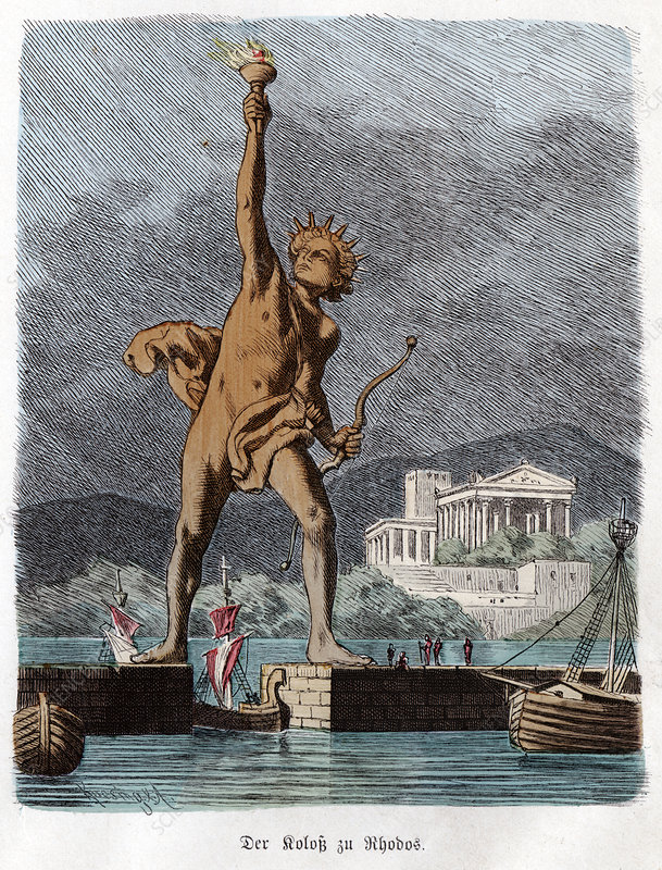 Colossus of Rhodes, illustration