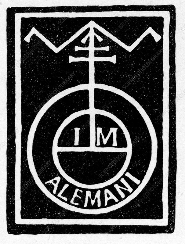German printer's mark, illustration