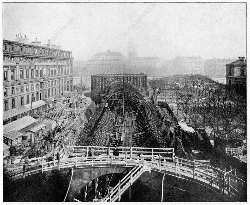 Construction of the Paris Metro, France