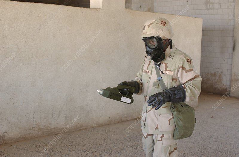 biological weapon screening iraq stock image  science photo library