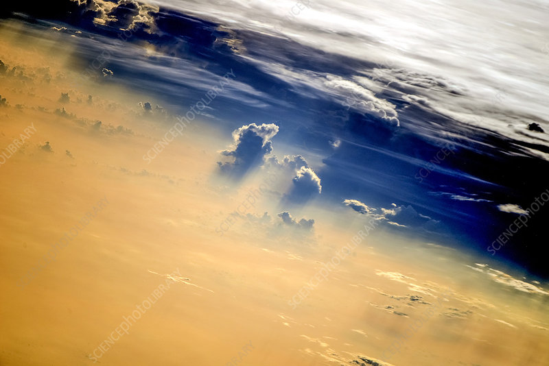 Clouds, ISS image