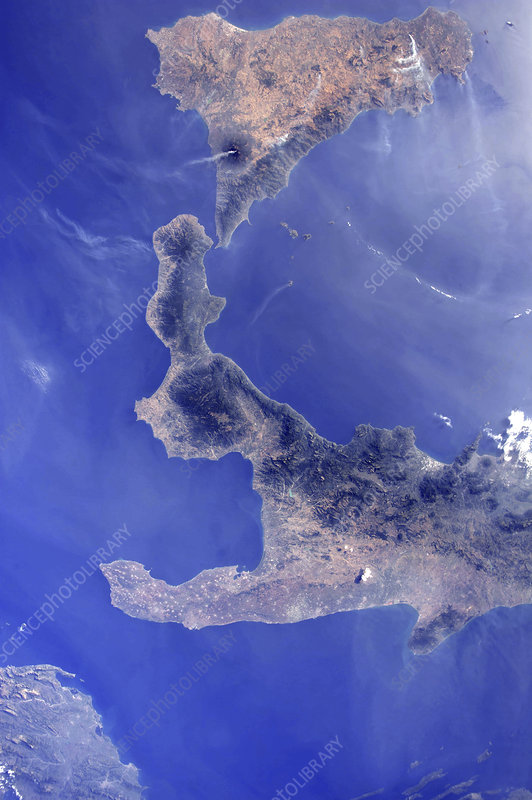 Southern Italy, ISS image