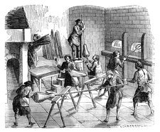 Glass-blowing industry, 18th century