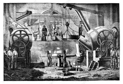 Steelworks, 19th century