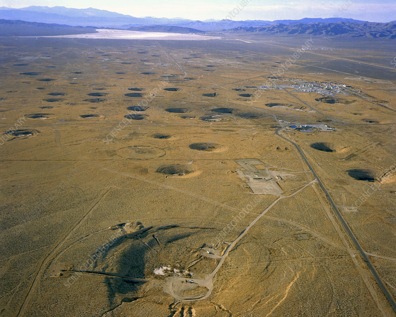 Nevada Test Site Atom Bomb Craters Stock Image C022 9676 Science Photo Library